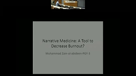 Thumbnail for entry Narrative Medicine: A Tool for Burn Out