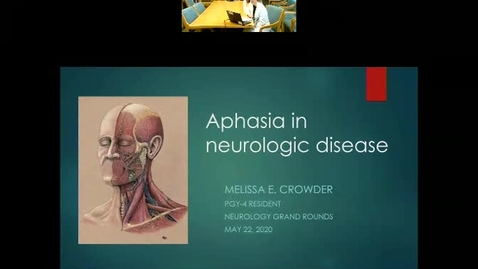 Thumbnail for entry Aphasia in Neurologic Disease