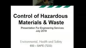 Thumbnail for entry Hazardous Waste - Hazmat