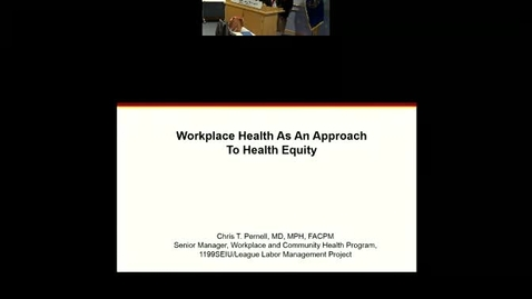 Thumbnail for entry Workplace Health as an approach to health equity