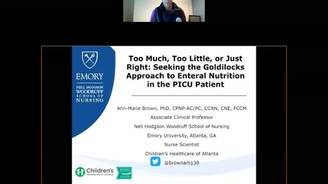 Thumbnail for entry Too Much, Too Little, or Just Right: Seeking the Goldilocks Approach to Enteral Nutrition in the PICU Patient