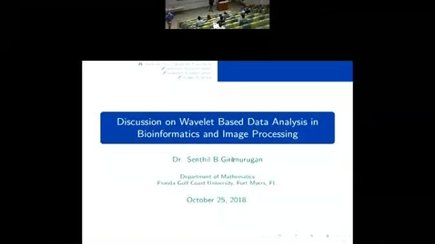 Thumbnail for entry Discussion on Wavelet Based Data Analysis in Bioinformatics and Image Processing