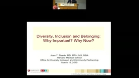 Thumbnail for entry Diversity, Inclusion and Belonging: Why important? Why Now?