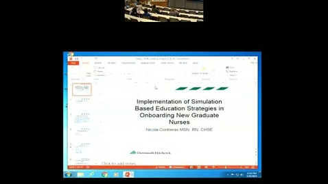 Thumbnail for entry Implementation of Simulation Based Education Strategies in Onboarding New Graduate Nurses