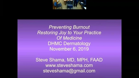 Thumbnail for entry Physician Burnout- How To Avoid It