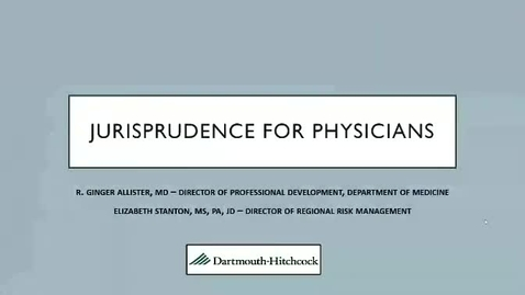 Thumbnail for entry Jurisprudence with a Focus on Neurology