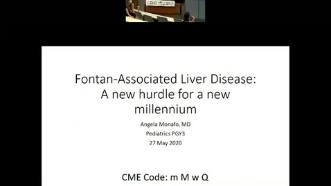 Thumbnail for entry Fontan-Associated Liver Disease: A New Hurdle for a New Millennium