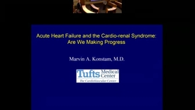 Thumbnail for entry Acute Heart Failure and the Cario-renal Syndrome: Are We Making Progress