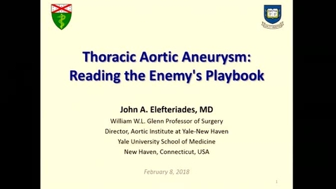 Thumbnail for entry Thoracic Aortic Aneurysms: Reading the Enemy's Playbook
