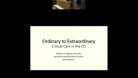Thumbnail for entry Ordinary to Extraordinary: Refractory Hypoxemia and Hypercarbia