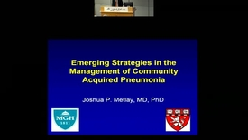 Thumbnail for entry Current and Future Practices for the Management of Patients with Community Acquired Pneumonia