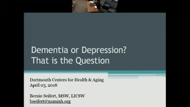 Thumbnail for entry Dementia or Depression? That is the Question