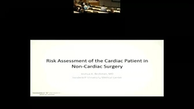 Thumbnail for entry Perioperative management of the cardiovascular patient in non-cardiac surgery