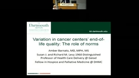 Thumbnail for entry Variation in Cancer Centers' End-of-Life Quality: The Role of Norms