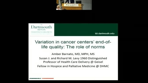 Variation in Cancer Centers' End-of-Life Quality: The Role of Norms