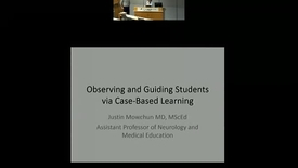 Thumbnail for entry Observing and Guiding Students via Case-Based Learning