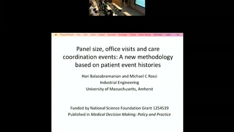 Thumbnail for entry Panel Size and Workload in Primary Care: A New Methodology Based on Patient Event Histories