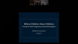 Thumbnail for entry When Children Have Children: A look at teen pregnancy and contraception.