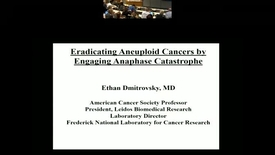 Thumbnail for entry Eradicating Aneuploid Cancers by  Engaging Anaphase Catastrophe
