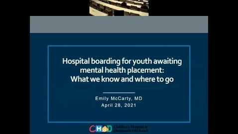 Thumbnail for entry Hospital boarding for youth awaiting mental health placement: What we know and where to go