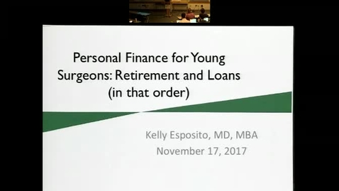 Personal Finance for Young Surgeons: Retirement and Loan Repayment