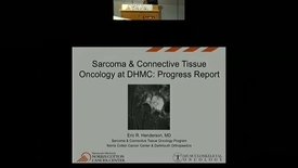 Thumbnail for entry Sarcoma & Connective Tissue Oncology at NCCC: Progress Report