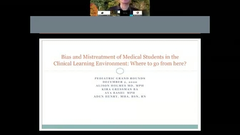 Thumbnail for entry  Bias and Mistreatment of Medical Students in the Clinical Learning Environment: Where to go from here?