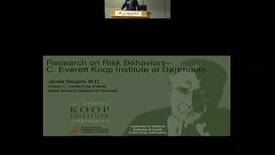 Thumbnail for entry Research on Risk Behaviors at the C. Everett Koop Institute at Dartmouth.