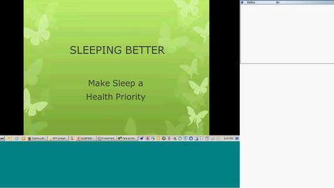 Sleeping Better - Make Sleep a Health Priority