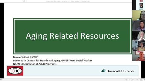 Thumbnail for entry Project ECHO: Community Health Worker and Support Specialists: Working and Thriving In The New Normal  Session 2