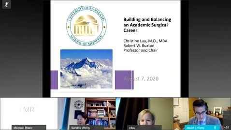 Thumbnail for entry Building An Academic Surgical Career