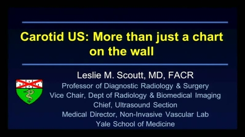 Carotid US: More Than Just A Chart On The Wall
