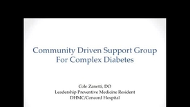 Thumbnail for entry Community Driven Support Group for Complex Diabetes