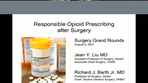 Thumbnail for entry Responsible opioid prescribing after surgery