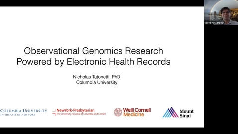 Thumbnail for entry Observational Genomic Research Powered by Elctronic Health Records