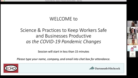 Thumbnail for entry Project ECHO: Keeping Workers Safe - Session 7
