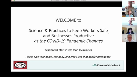 Thumbnail for entry Project ECHO: Keeping Workers Safe - Session 9