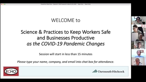 Thumbnail for entry Project ECHO: Keeping Workers Safe - Session 5