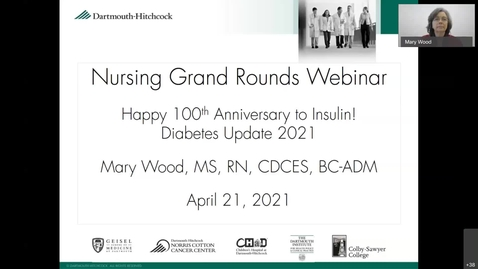 Thumbnail for entry Happy 100th Anniversary to Insulin! Diabetes Update 2021