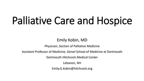 Thumbnail for entry Project ECHO: Primary Palliative Care, Specialty Palliative Care and Hospice