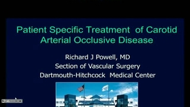 Thumbnail for entry Patient Specific Treatment of Carotid Arterial Occlusive Disease