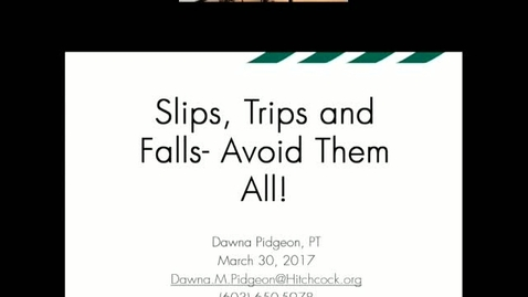 Thumbnail for entry Slips,Trips,and Falls
