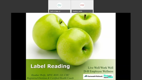 Thumbnail for entry Label Reading