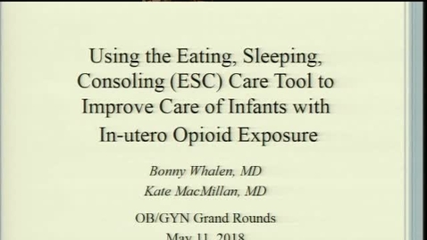 Thumbnail for entry Improving Care for Opioid-Exposed Newborns using the ESC Care Approach