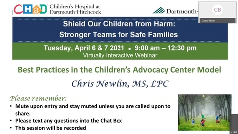 Thumbnail for entry Shield Our Children From Harm Day 2 Opening - Best Practices in the Children's Advocacy Center Model