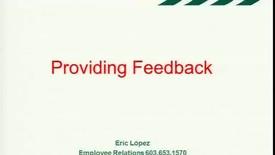 Thumbnail for entry Providing Feedback