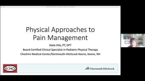 Thumbnail for entry Project ECHO: Kids in Pain: A Multidisciplinary Approach to Pediatric Pain Management Session 9