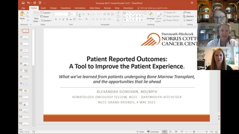 Thumbnail for entry Patient Reported Outcomes: A Tool to Improve the Patient Experience