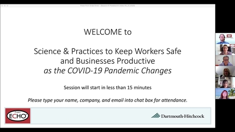 Thumbnail for entry Project ECHO: Keeping Workers Safe  - Session 6