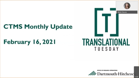 Thumbnail for entry Translational Tuesday CTMS Update & Discussion Forum - LAST before GO-LIVE! (OnCore Project Team)